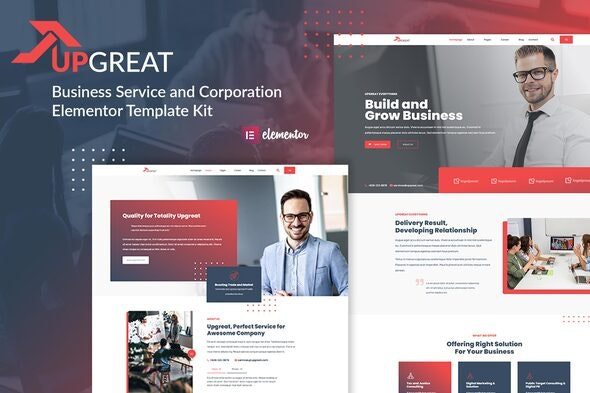Upgreat - Business Service Corporate Elementor Template Kit - Business & Services Elementor