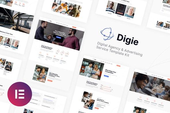 Digie | Digital Agency & Advertising Service Elementor Template Kit - Business & Services Elementor