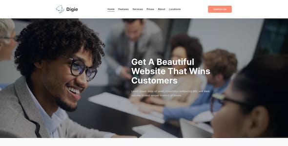 Digie   Digital Agency & Advertising Service Elementor Template Kit