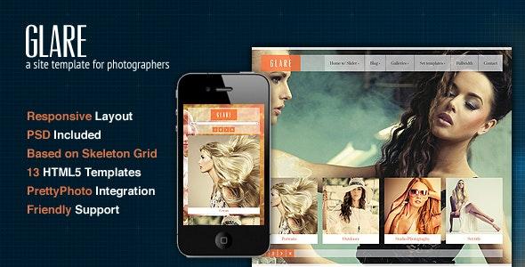 Glare - Photography Portfolio Site Template - Photography Creative