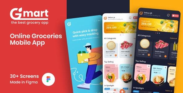 Gmart   Groceries Mobile UI Screens Figma Template - Shopping Retail