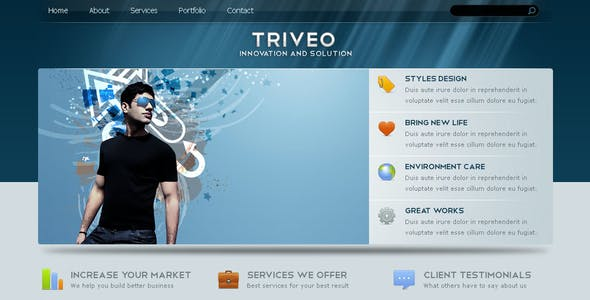 Triveo - Clean Business Template 3