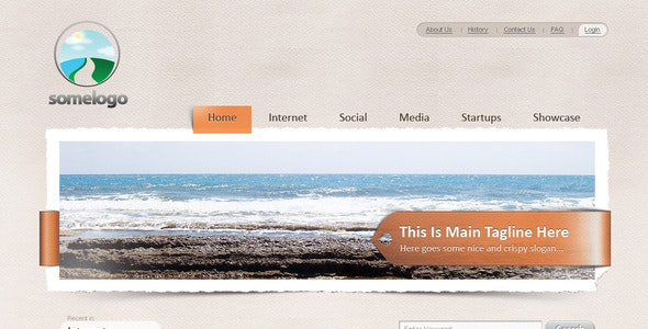 Appealing blog template - Miscellaneous Photoshop
