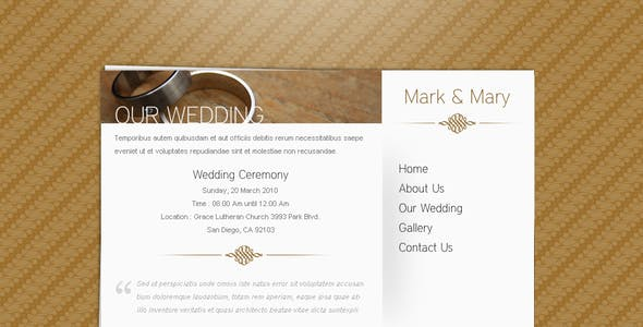 Batik - Minimalist Wedding Card