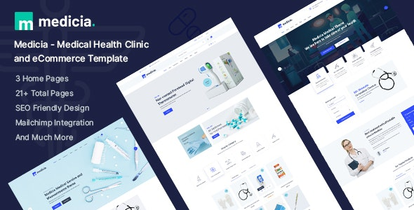 Medicia - Medical Health Clinic and eCommerce HTML5 Template - Health & Beauty Retail