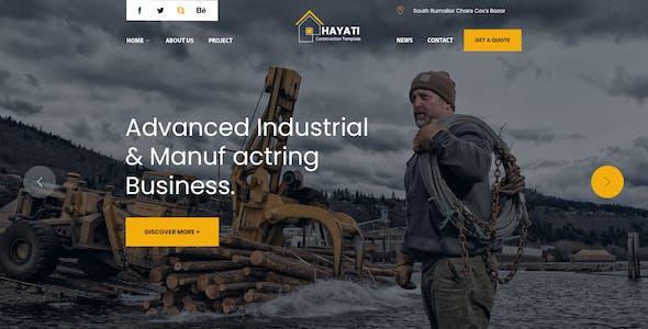 Hayati - Construction PSD Template
