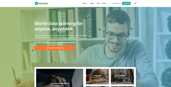 Macstdy - Education & LMS PSD Template