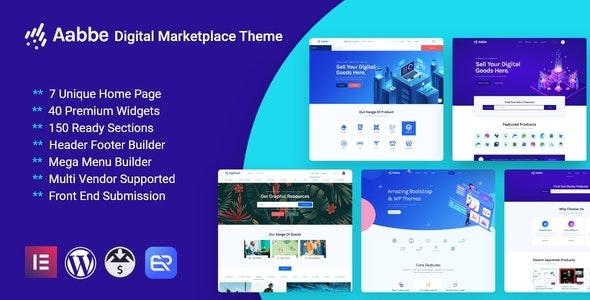 Aabbe – Digital Marketplace WordPress Theme - eCommerce WordPress