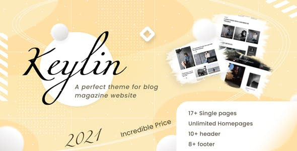 Keylin - WordPress Magazine and Blog Theme