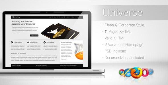 Universe - Corporate Business Template 2 - Corporate Site Templates