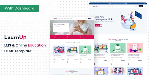 LearnUp - Education HTML Template - Business Corporate