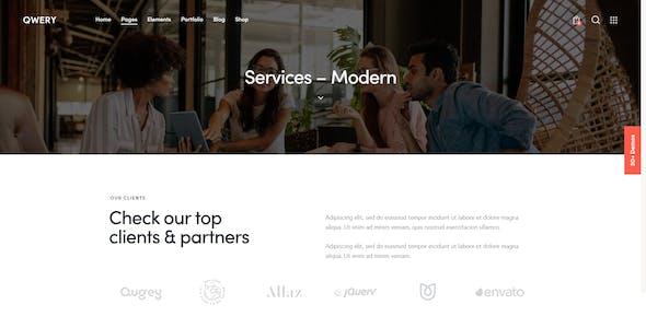 Qwery - Multi-Purpose Business WordPress Theme + RTL