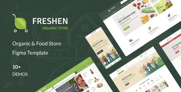 Freshen - Organic & Food Store Figma Template