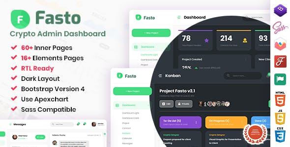 Fasto - Saas Admin Dashboard Template