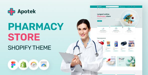 Apotek - Shopify Pharmacy eCommerce Store Theme