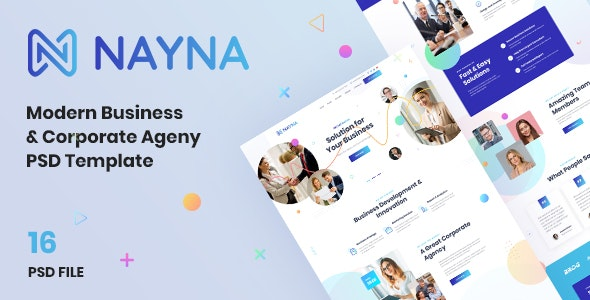 Nayna   Modern Corporate and Business Psd Template - Business Corporate
