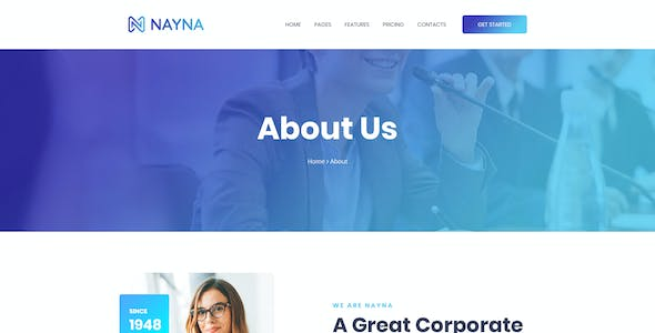 Nayna | Modern Corporate and Business Psd Template