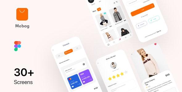 Mebag-Ecommerce App UI Kit - Shopping Retail
