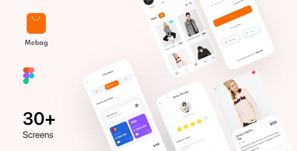 Mebag-Ecommerce App UI Kit