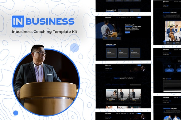 Inbusiness - Coaching Business Elementor Template Kit - Business & Services Elementor