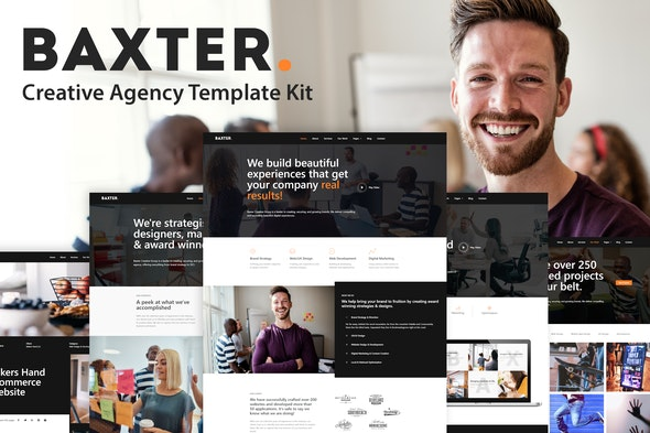 Baxter - Creative Agency Elementor Template Kit - Creative & Design Elementor