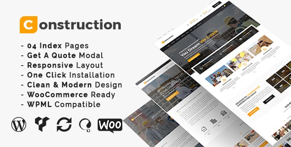Construction - Building Business and Renovation WordPress Theme - Business Corporate
