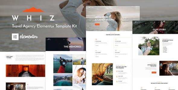 Whiz - Travel Agency Elementor Template Kit