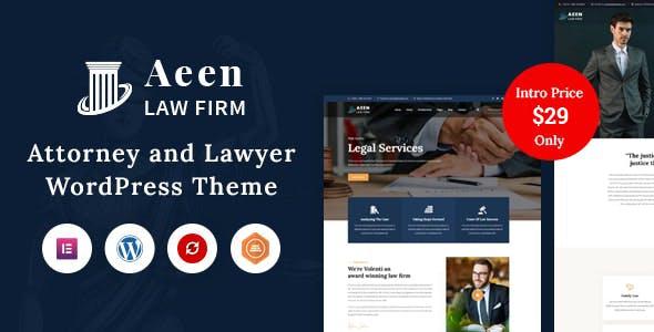 Aeen - Attorney and Lawyer WordPress Theme