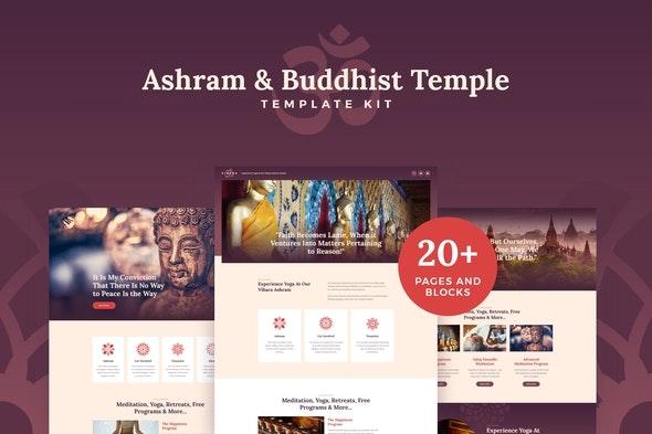 Vihara - Ashram & Oriental Buddhist Temple Elementor Template Kit - Non-Profit & Religion Elementor