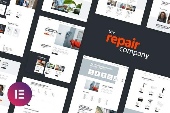 Renovirta - Plumbing & Repair Elementor Template Kit - Real Estate & Construction Elementor