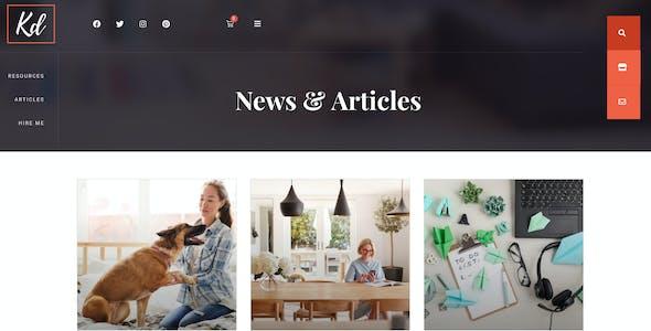 BlogHer - Influencer Marketing Blog & Shop Elementor Template Kit