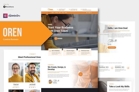 Oren - Creative Business Elementor Template Kit - Business & Services Elementor