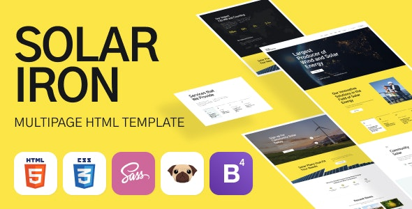 Solar Iron - Energy Responsive HTML5 Template - Business Corporate
