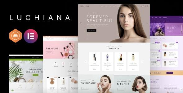 Luchiana - Cosmetics Store & Beauty Shop WooCoomerce Theme - WooCommerce eCommerce
