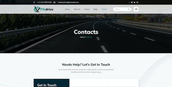 Pikdrive – Driving School Figma Template