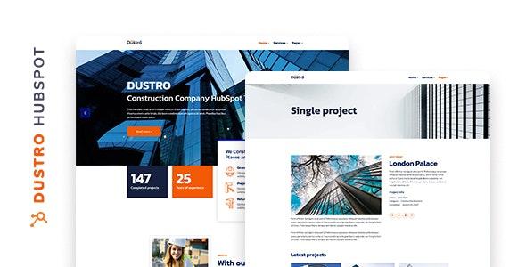 Dustro - Construction Company HubSpot Theme - Miscellaneous CMS Themes