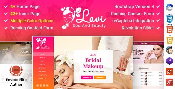 Lavi v1.0 – Beauty Spa Salon Makeup Parlour Bootstrap 4 Template