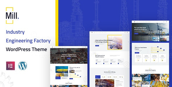 Mill | Industry Engineering Factory WordPress Theme - Business Corporate