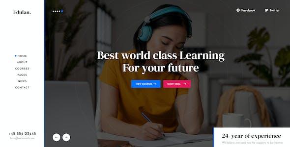 Eduba - LMS & Education PSD Template