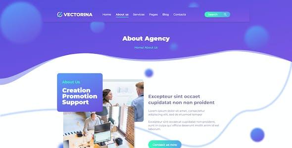 Vectorina - Marketing Agency Figma Template