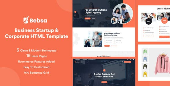 Bebsa - Corporate Business HTML Template