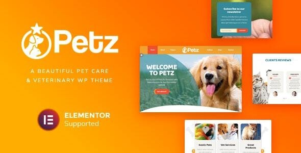 Petz - Pet Care & Veterinary Theme - Health & Beauty Retail