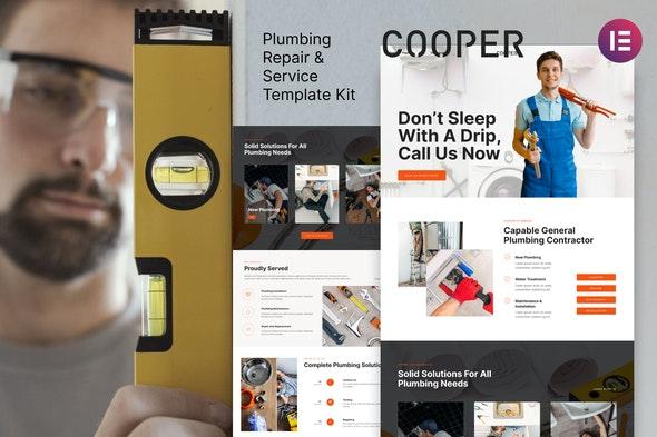 Cooper – Plumbing Repair Service & Maintenace Template Kit - Business & Services Elementor