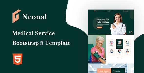 Neonal Medical Service Bootstrap 5 Template