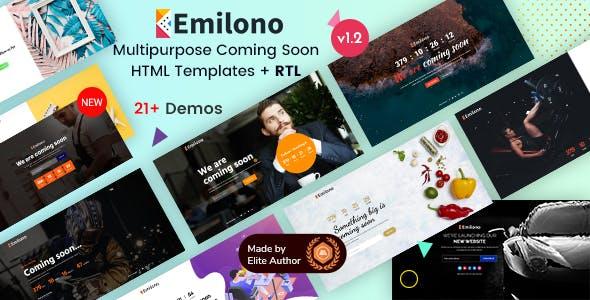 Emilono - Coming Soon HTML Template