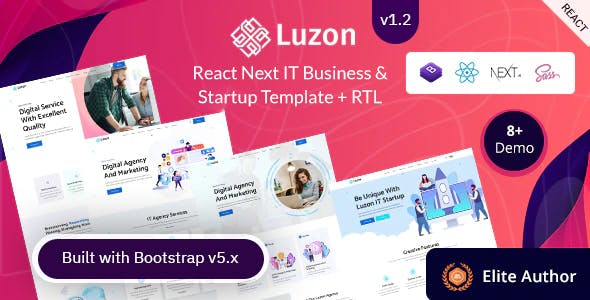 Luzon - React Next IT Business & Startup Template