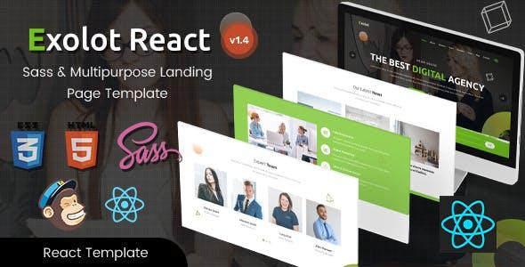 Exolot - React Multipurpose Landing Page Template