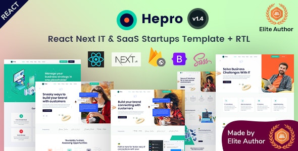 Hepro - React Next IT & SaaS Startup Template - Software Technology