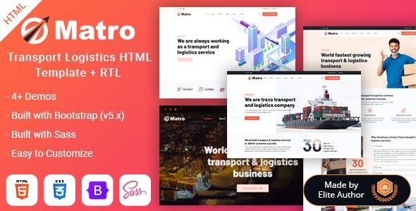 Matro - Transport Logistics Company HTML Template