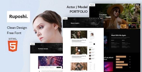 Ruposhi - Actor Portfolio Html Template - Portfolio Creative
